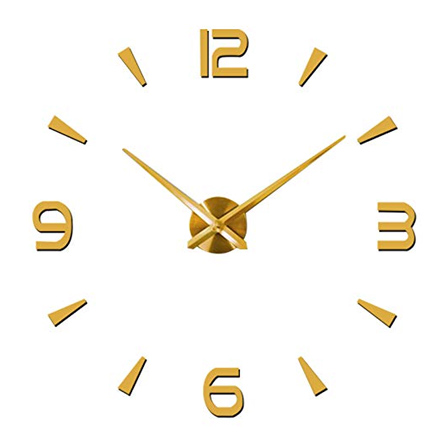 Fashion in the City DIY Wall Clock - Gold