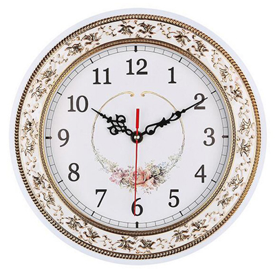 Tebery Silent Modern Quartz Flower Wall Clock