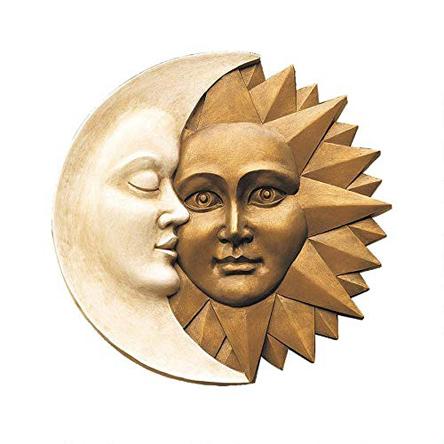 Design Toscano Celestial Harmony Sun and Moon Outdoor Wall