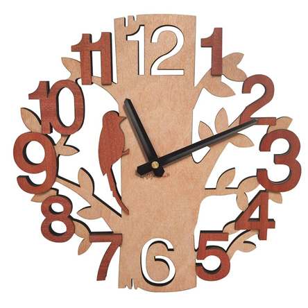 Giftgarden Tree Shaped Wall Clock Wood