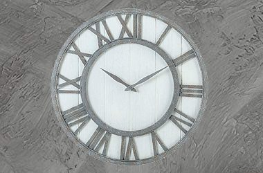 Oldtown Farmhouse Metal Clock